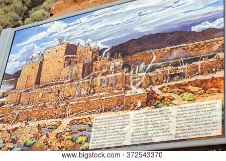 Flagstaff, Az., U.s.a. 30.06.2016. Wukoki 3-story Ruins Of The Wupatki National Monument.  Wukoki Si
