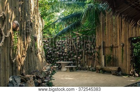 Koh Phangan, Thailand- April 20 2019: Bamboos Interior Design, Relaxing Place