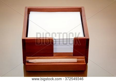 Notepads In A Box With Pencil, Pen