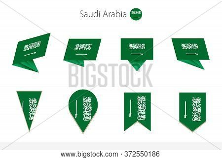 Saudi Arabia National Flag Collection, Eight Versions Of Saudi Arabia Vector Flags. Vector Illustrat
