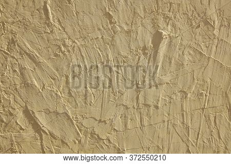 Background From Wood Fiber Board. Pressed Wood  Chips And Sawdust. Yellow Primed Wood Surface.