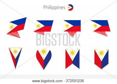 Philippines National Flag Collection, Eight Versions Of Philippines Vector Flags. Vector Illustratio
