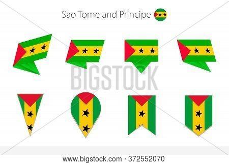 Sao Tome And Principe National Flag Collection, Eight Versions Of Sao Tome And Principe Vector Flags