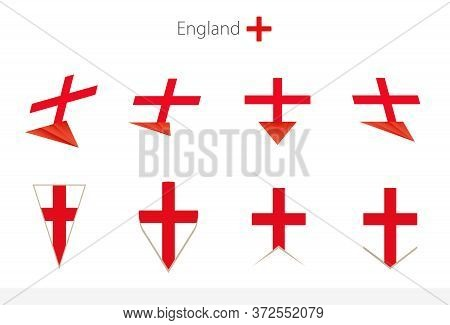 England National Flag Collection, Eight Versions Of England Vector Flags. Vector Illustration.
