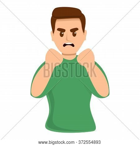 Student Rage Icon. Cartoon Of Student Rage Vector Icon For Web Design Isolated On White Background