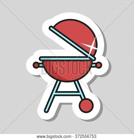 Grill Barbeque Cookout Vector Icon. Graph Symbol For Cooking Web Site And Apps Design, Logo, App, Ui