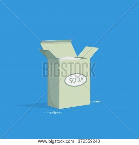 Pack Of Baking Soda Isometric. White Alkaline