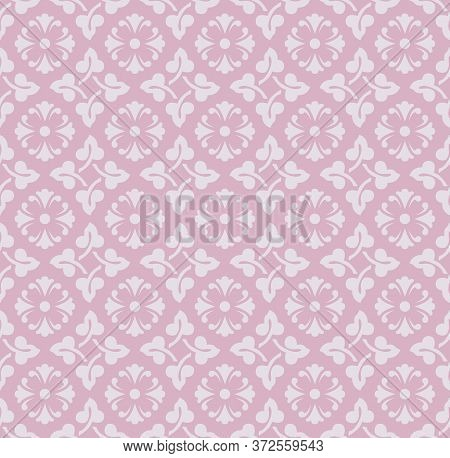 Retro Vintage Chinese Traditional Pattern Seamless Background Elegant Pink Round Spiral Curve Cross