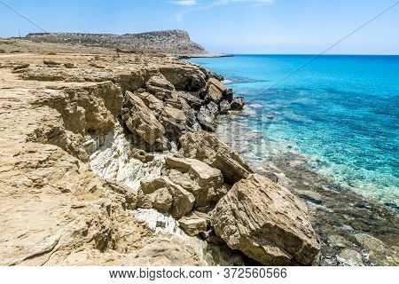 22 May 2016.cape Greco.cyprus. Views Of The Sea Caves And Cliffs Of Cape Greco .
