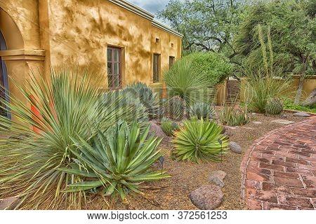 Usa, Arizona, 30,06,2016.tumacacori National Historical Park In Arizona Features Gardens, Spanish-st