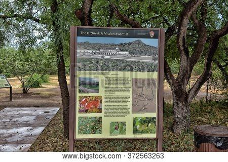 Usa, Arizona, 30,06,2016 Tumacacori National Historical Park In Arizona Features Gardens, Spanish-st