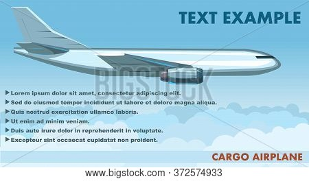Cargo Airplane. Vector. Airplane For The Transport Of Goods. Plane. Logistic Services. Isolated. Air