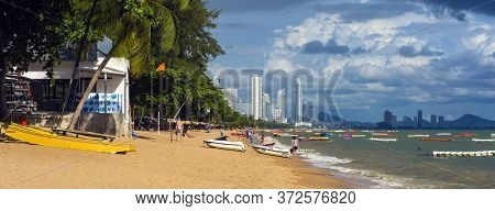 Thailand, Pattaya, 24,06,2017 City Beach Pattaya Jomtien Day