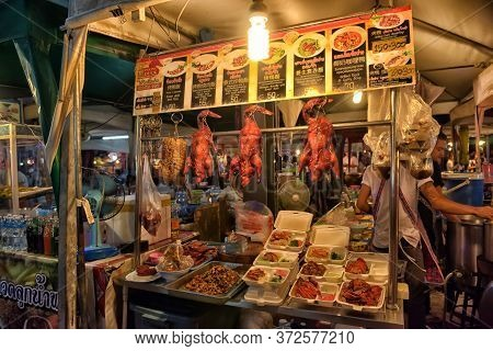 Thailand, Pattaya 26,06,2017 Night Food Market In Pattaya