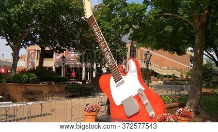 Huge Guitars At The Entry Of Grand Ole Opry In Nashville - Nashville, Usa - June 17, 2019