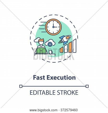 Fast Execution Concept Icon. Trading Platform Strategy. Digital Transformation. Successful Project C