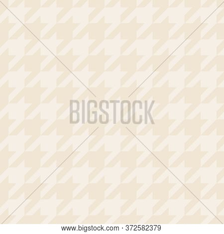 Hounds Tooth Seamless Pastel Vector Pattern Or Background. Traditional Scottish Tartan Plaid Fabric