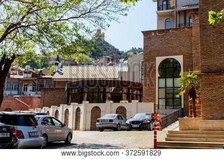 Tbilisi, Georgia - May 1, 2018: Sulfur Baths In The Abanotubani District Of Tbilisi, Georgia