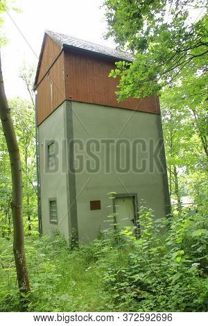 Protected Bat Roost In A Forest Near Zittau