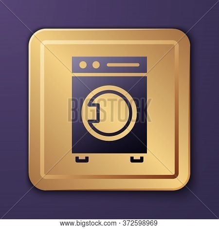 Purple Washer Icon Isolated On Purple Background. Washing Machine Icon. Clothes Washer - Laundry Mac