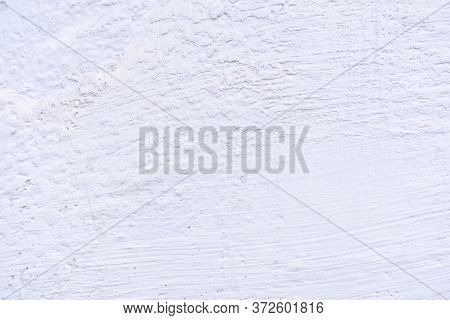 Texture Of Old Whitewashed Wall. Blue Abstract Background With Splashes