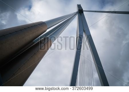 Rotterdam City, Netherland (holland). View Of Erasmus Bridge