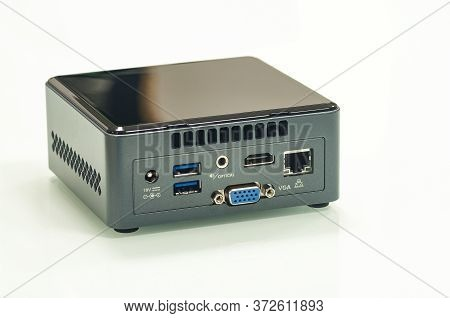 Single-board Personal Miniature Computer With All Digital Ports Showing Functionality Isolated On Wh