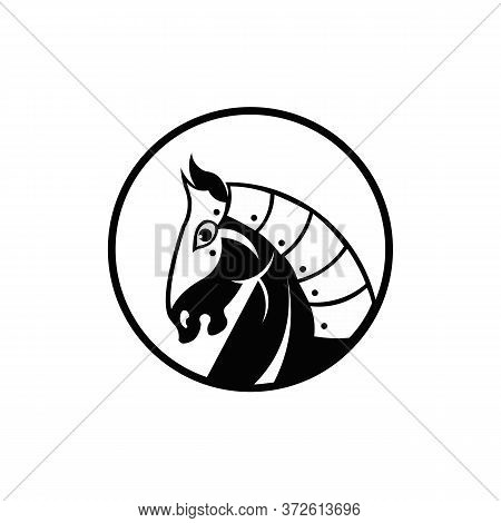 Knight Horse Mascot ,vector Simple Of Knight Head Horse Mascot Vector  For Web Design