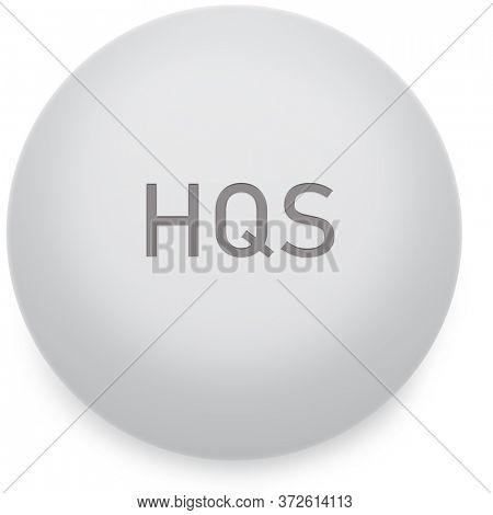 Illustration of HQS Hydroxychloroquine Pill