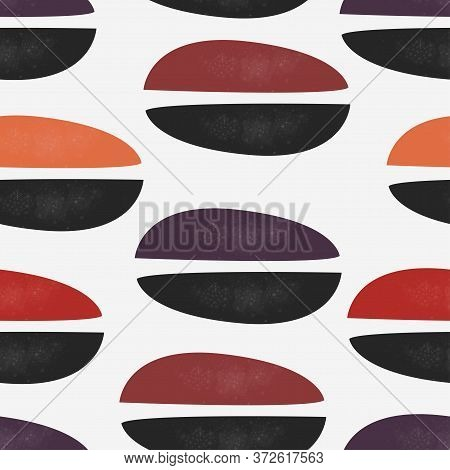 Cute Scandinavian Terracotta Pattern In Modern Colours. Contemporary Background. Modern Abstract Art