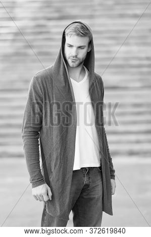 Fashion Trend. Comfortable Clothes For Daily Wear. Male Fashion Influencer. Fashionable Young Model