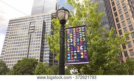 Modern Sign Of Midtown Atlanta - Atlanta, Georgia - April 20, 2016