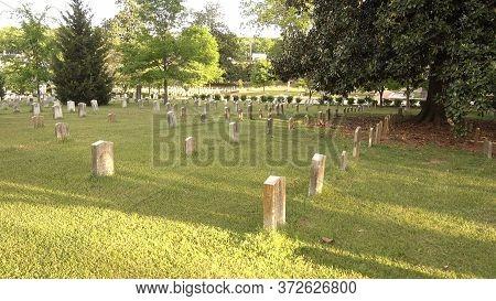 Military Gravestones At Oakland Cemetery Atlanta - Atlanta, Georgia - April 20, 2016