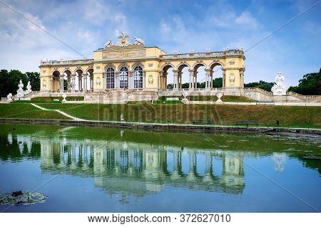Vienna, Austria - August 28, 2019. Schonbrunn Palace. Wonderful Architecture Of Vienna