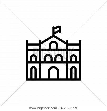 Building, Monument Concept Line Icon. Simple Element Illustration. Building, Monument Concept Outlin