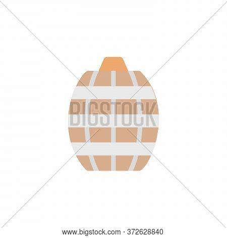Barrel, Beer Colored Icon. Simple Colored Element Illustration. Barrel, Beer Concept Symbol Design F