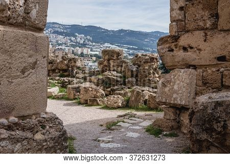 Remains Of Crusader Fortress In Byblos, Lebanon, One Of The Oldest City In The World