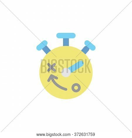Stopwatch Colored Icon. Simple Colored Element Illustration. Stopwatch Concept Symbol Design From Bu