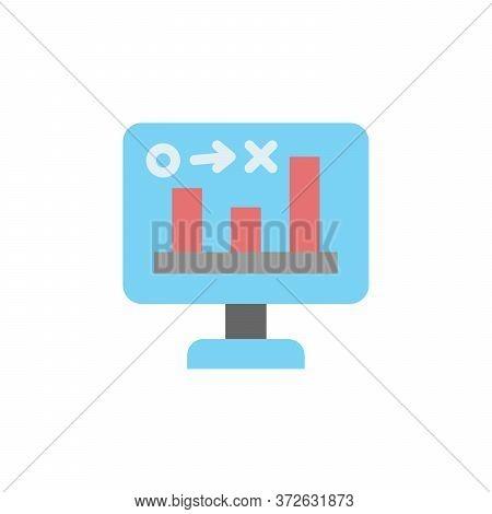 Stats, Computer Colored Icon. Simple Colored Element Illustration. Stats, Computer Concept Symbol De