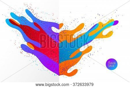 Abstract Colorful Lava Fluids Vector Illustration, Bubble Gradients Shapes In Motion, Artistic Backg