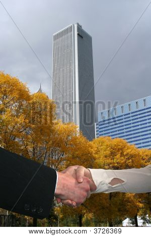 Handshake In Chicago