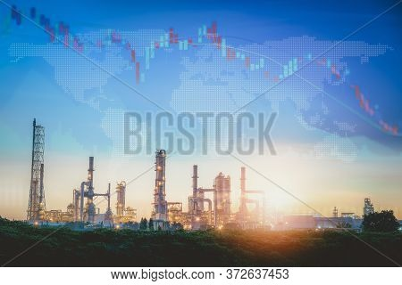 World Economic Recession Of Oil And Gas Industrial Sector From Coronavirus Covid-19, Global Stock In