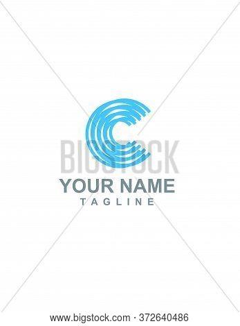 C, Cc, Ccc Initials Geometric Logo And Vector Icon