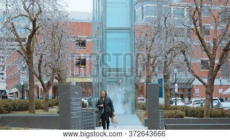 Holocaust Memorial In Boston - Boston. Usa - April 5, 2017