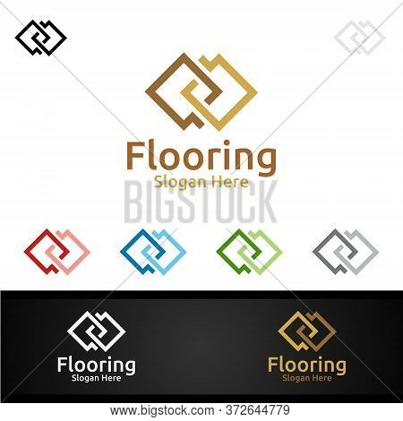 Flooring Logo For Parquet Wooden Or Vinyl Hardwood Granite Title Design