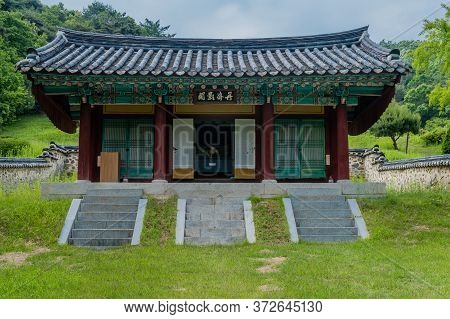 Cheongju, South Korea; May 31, 2020: Shrine Honoring Independence Activist, Historian And Journalist