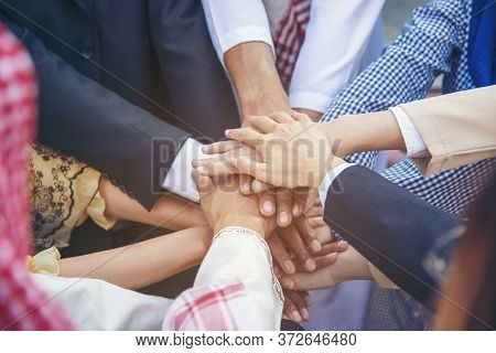 Group Of People Diversity Multiethnic Teamwork Collaboration Team Meeting Communication  Unified Tea