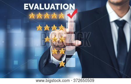 Customer Review Satisfaction Feedback Survey Concept.