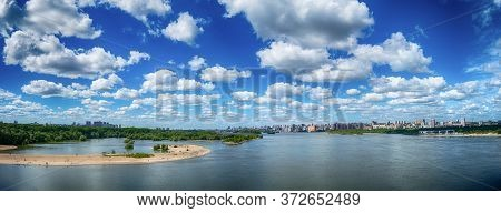 Novosibirsk, Novosibirsk Region / Russia-06.21.2020: Panorama Of The Right Bank Of The City Of Novos