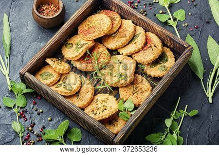 Cookies With Spicy Herbs